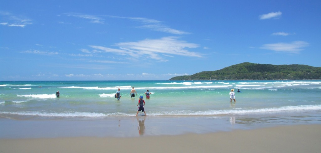 A quick dip at Noosa Main Beach....