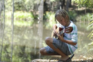 Strummin' by the creek