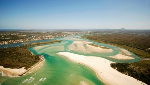 Birds eye view - Noosa Spit