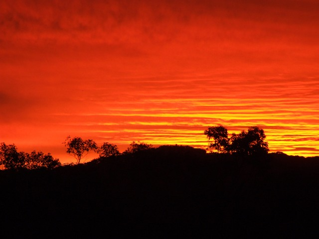Stunning sunset in the Southern land