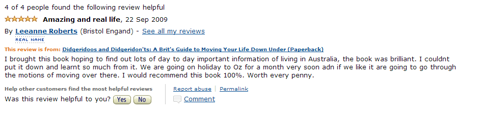 Amazon Review 2009