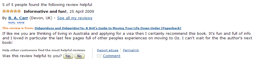 Amazon Review April 2009