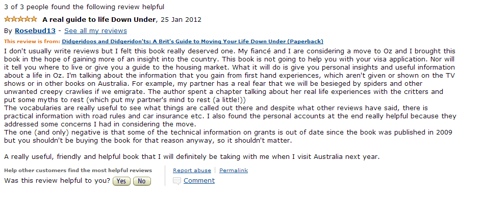 Amazon Review Jan 25 2012