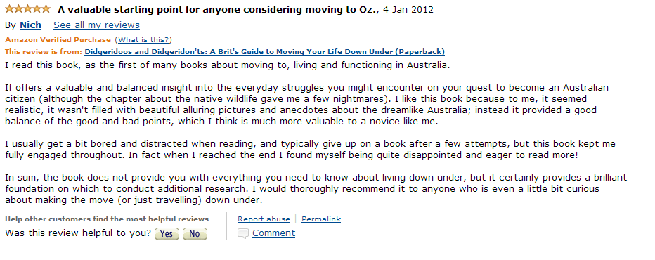 Amazon Review Jan 5 2012