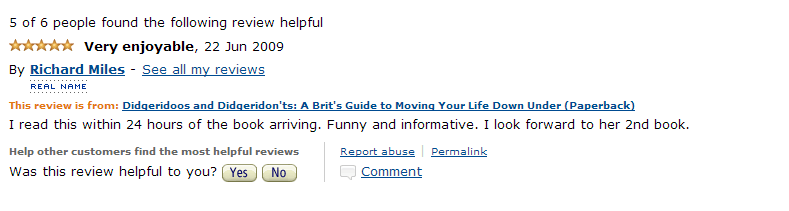 Amazon Review June 2 2009