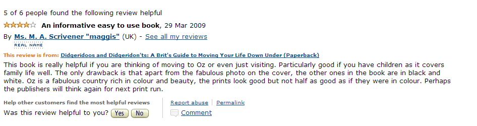 Amazon Review March 2009