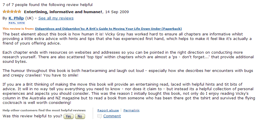 Amazon Review Sept 2009